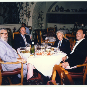 Eric Estorick , Ray Perman, Erté and Mark Schachner